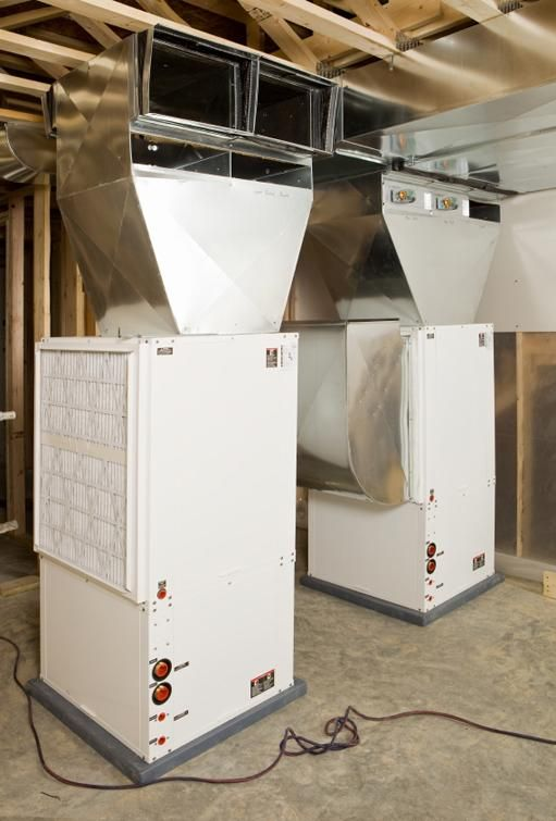 Indoor Heating And Cooling Units : These geothermal heating and cooling units installed in