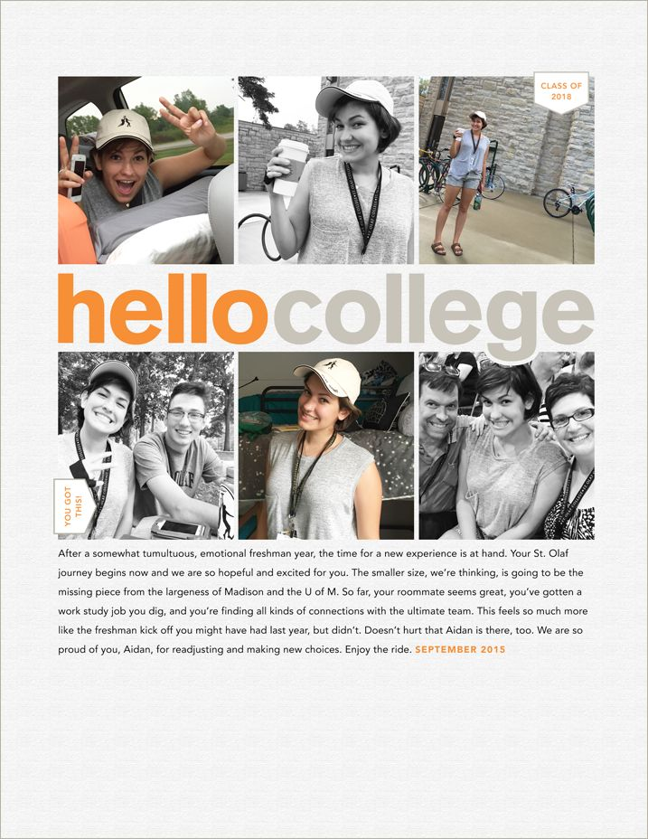 A look at my Hello College digital layout, plus a peek at my newest workshop, Ten Tips for Better Type