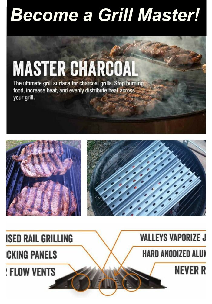 Weber Charcoal Grill Accessories: Master the art of grilling with direct heat.  GrillGrates prevent flare-ups and let you put down KILLER grill marks.