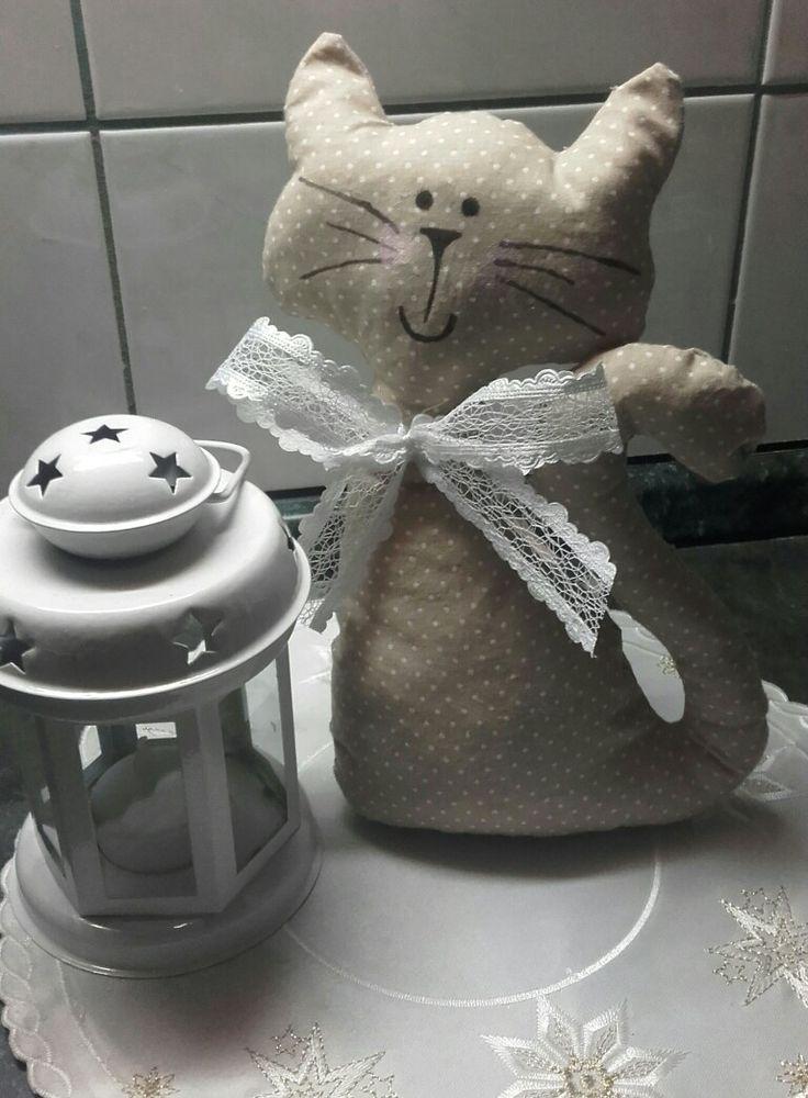 Kočička šitá dekorace