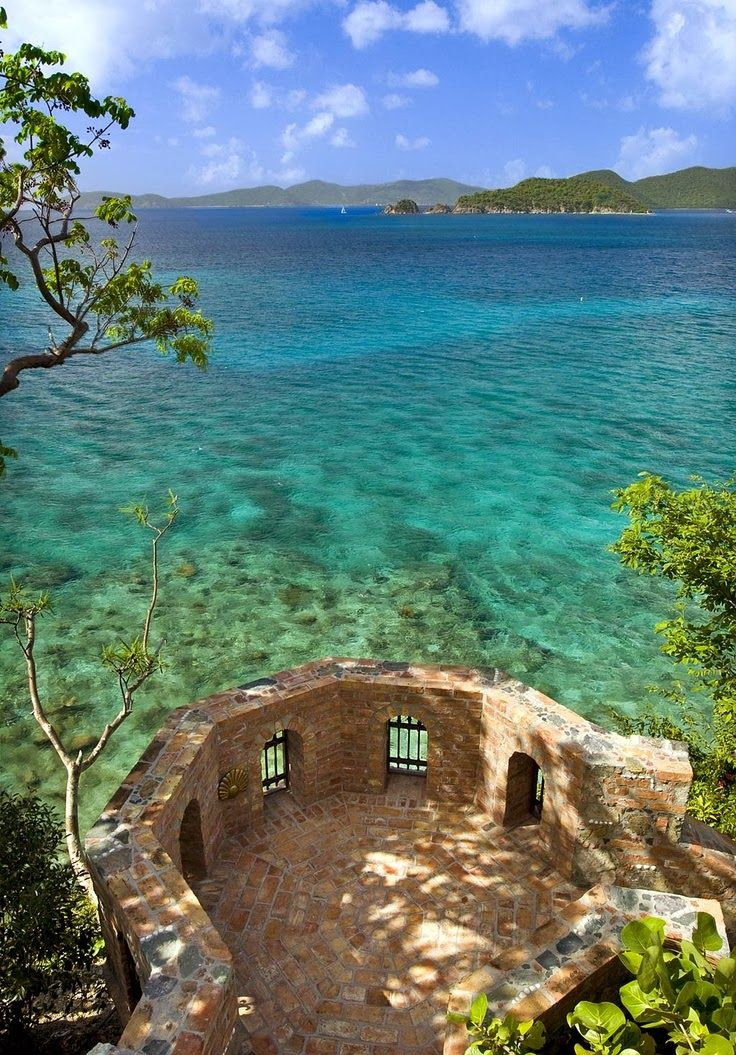 Presidio del Mar, St. John Presidio del Mar sits on its own promontory on St. John's spectacular north shore where the sky meets the Caribbean sea, a commanding and timeless presence which blends with the elements in perfect harmony.
