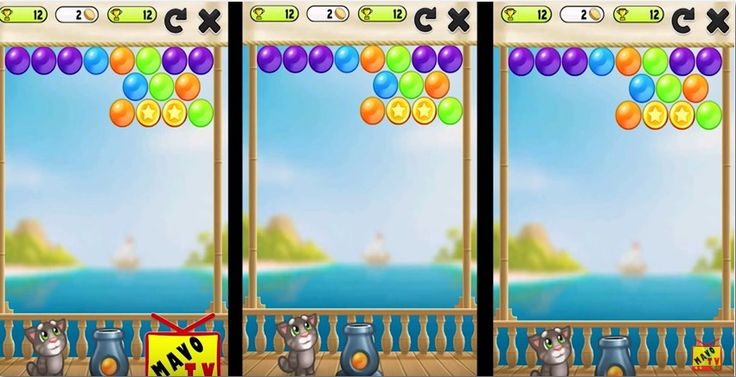 Playing Bubble Game with Talking Tom