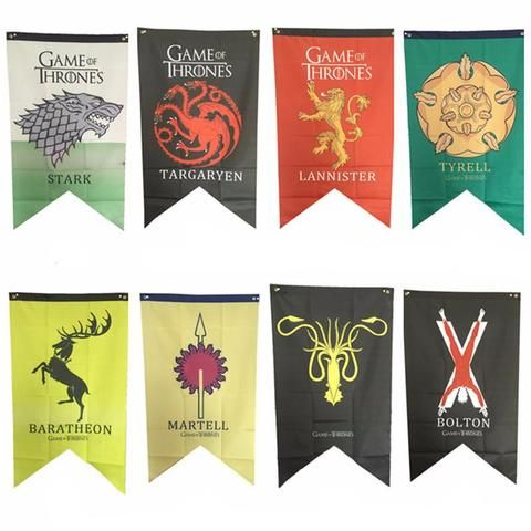 Westeros House Banner Flags