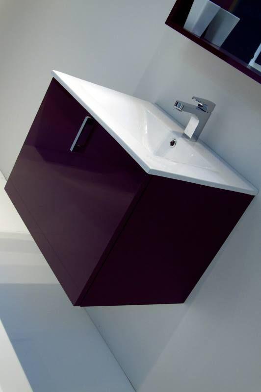 Κρεμαστό έπιπλο μπάνιου με γυάλινο λευκο νιπτήρα!