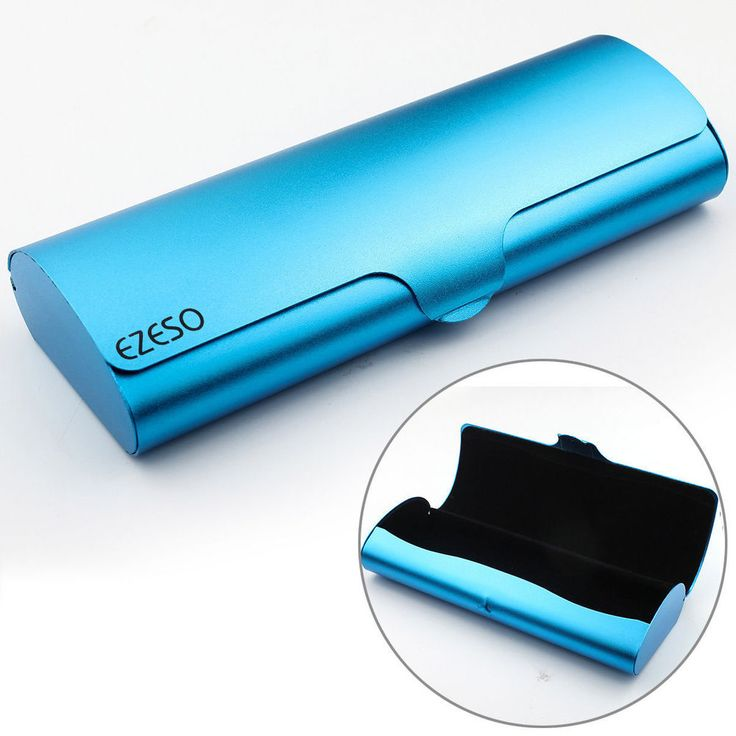 Portable Hard Metal Glasses Case Eyeglasses Spectacle Cases Box Protector New #Unbranded