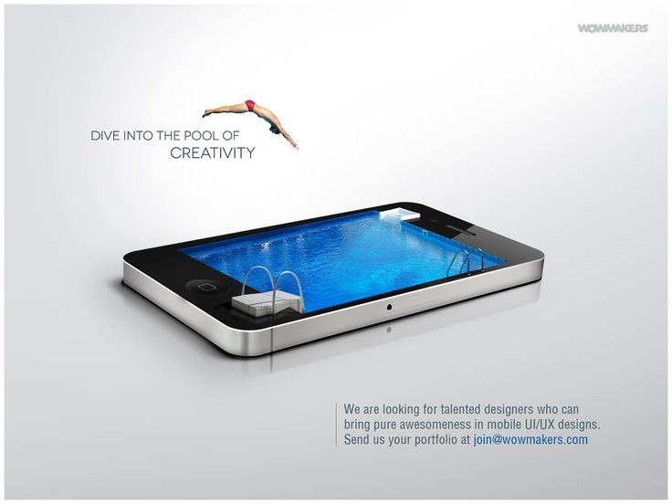 """Dive into the pool of creativity"""