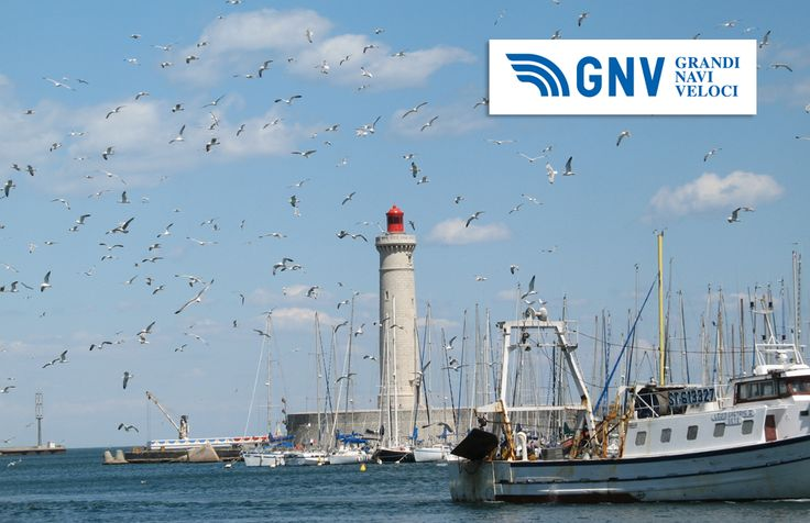 #Seagulls around #Sete lighthouse, #France. Discover #GNV routes from/to #Sete here: www.gnv.it/en