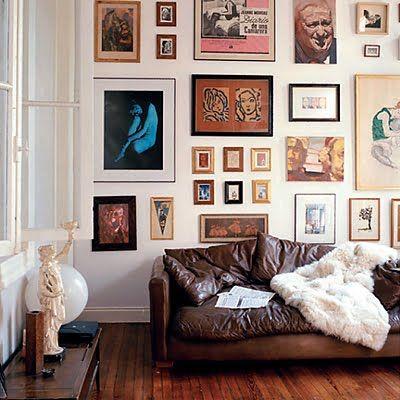 New Nudes and Figurative Art: Interior, Idea, Livingroom, Gallery Walls, Living Room, Gallerywall, Art Wall