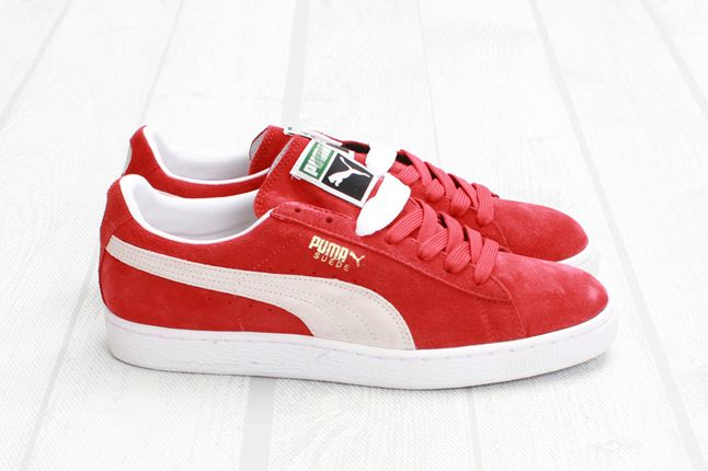 PUMA SUEDE+ (RED/WHITE) ... some of my favorite casual sneakers next to vans