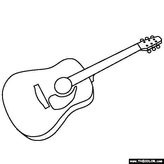 printable coloring pages guitar - photo#35