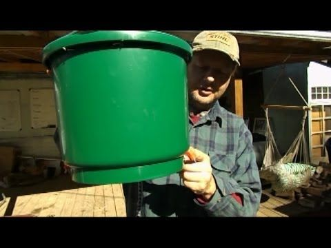 ▶ How to make a heated chicken waterer - YouTube-We made one…works great in below zero weather so far.
