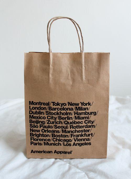 American Apparel shopping bag