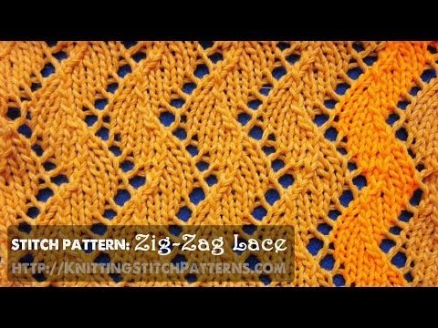 Zig-zag Lace #1 - YouTube