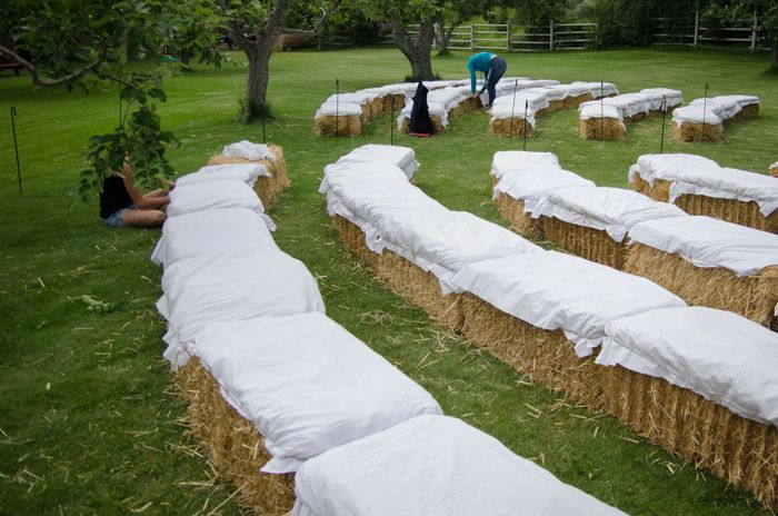 Love hay bale seating? This fun party seating is not only gorgeous but affordable with this simple trick!