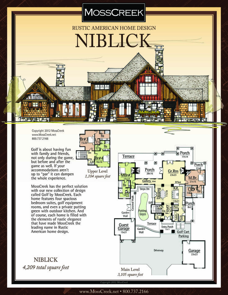 A ready to purchase 4 209 sf home plan from mosscreek for Floor design sf