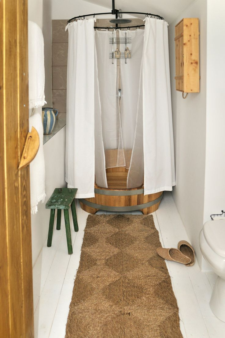 Shower at The Nest at Catherine's Vineyard Cottages in Csákberény, Hungary.
