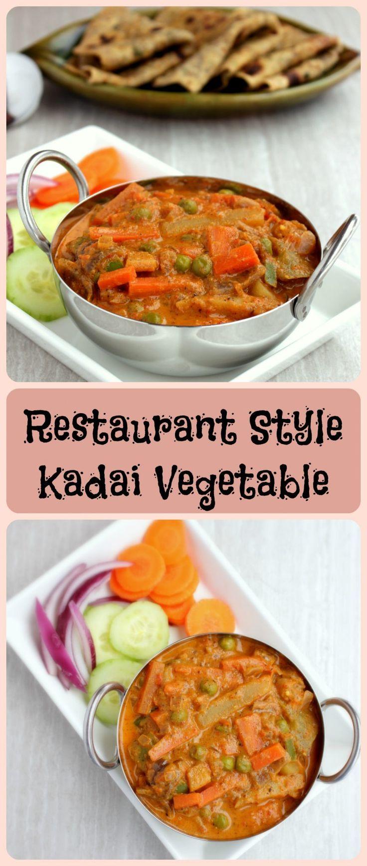 Kadai Vegetable Gravy - Restaurant Sytle Kadai Vegetable