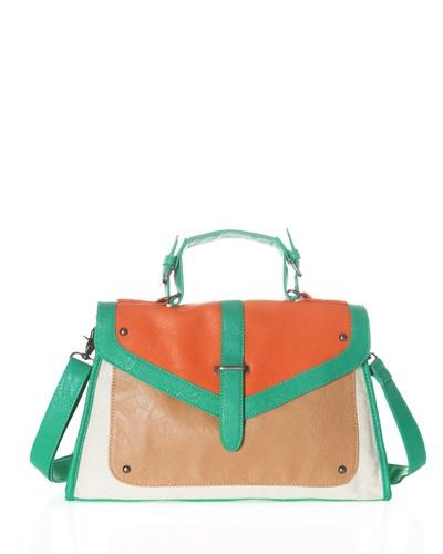 color block satchel, me encanta la combinación de colores!