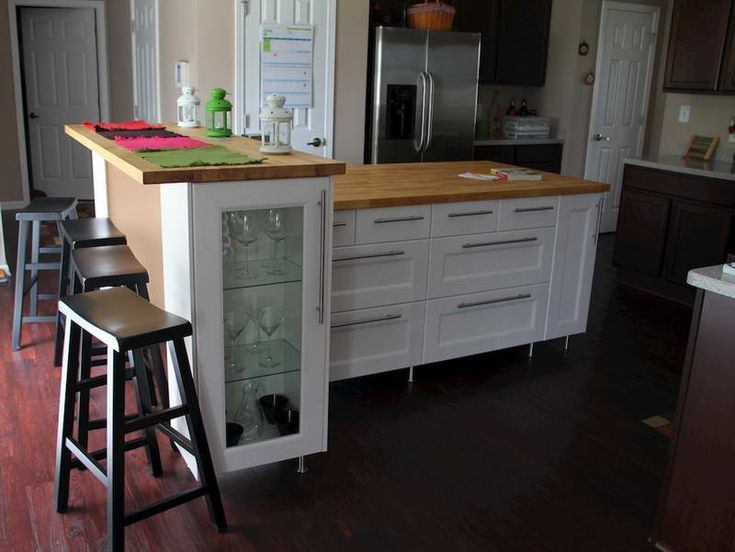 238 best images about small kitchen inspiration on pinterest renovated kitchen small kitchen - Ikea kitchen island stools ...