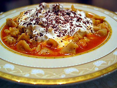 Turkish Manti Fake Out Recipe Using Elbow Pasta And Ground Meat Instead Of Making