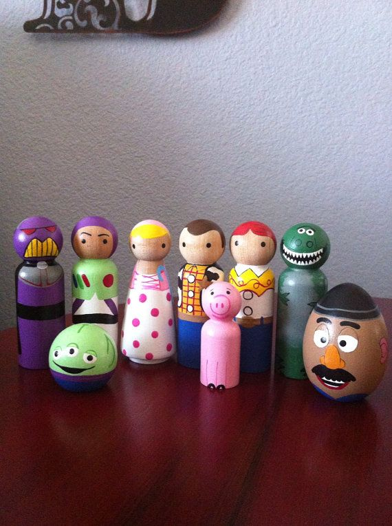 Hello Kitty And Toy Story Jessie Images : Best peg dolls images on pinterest wooden pegs doll