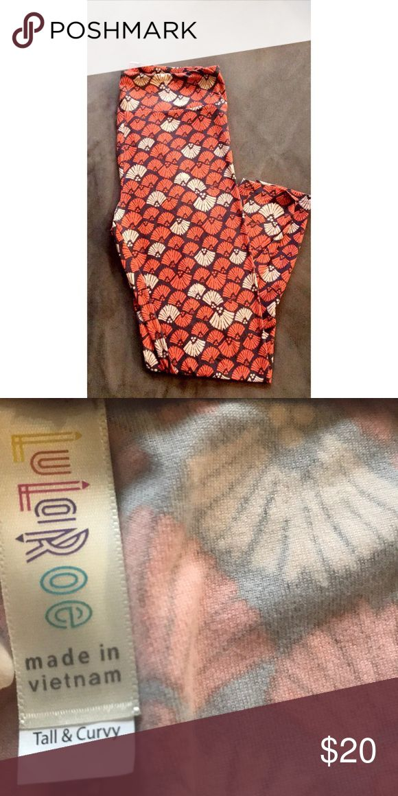 LuLaRoe Tall & Curvy Leggings I'm selling these lularoe leggings. Nothing is wrong with them only worn once or attempted to wear they are too big but super comfy. I am 5 foot and 140 pounds so i do not recommend you buy if your around the same size they'll be too big! LuLaRoe Pants Leggings