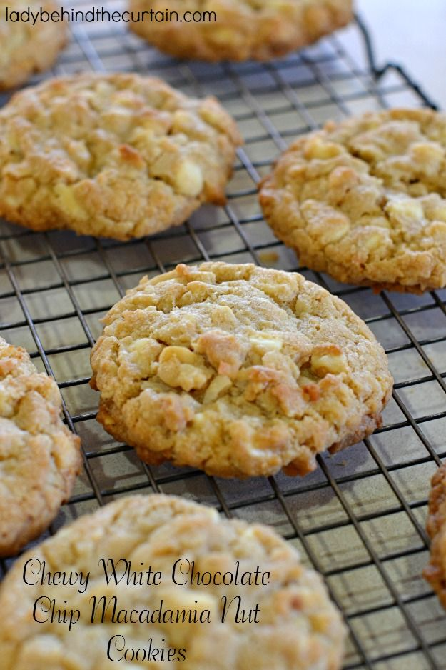 These Chewy White Chocolate Chip Macadamia Nut Cookies have just the right amount of everything including coconut! Perfect for a holiday cookie tray, give