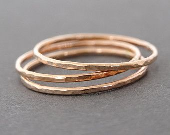 ONE Super Thin Ring smooth stacking rings choose by bluebirdss