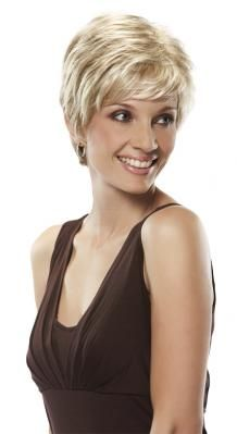 """This petite sized wig is a short and classic pixie cut from the John Renau classic collection. The pixie look is a classic cut that looks good on almost anyone. The volume created by the short styles layers and sweeping bang is just right. This wig is styled so that it looks like it was shaped by one simply running their fingers through it."""