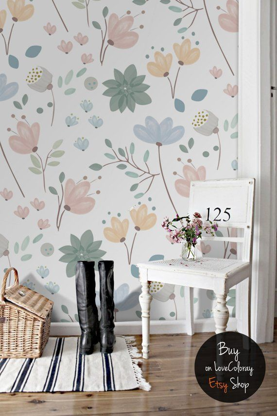 Floral Wallpaper What To Do And What Not To Do La Casa De Freja Home Decor Removable Wallpaper Nursery Wallpaper