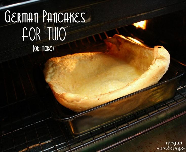 Recipe: German Pancakes for Two (or more) no need to have tons of extra batter - Rae Gun Ramblings