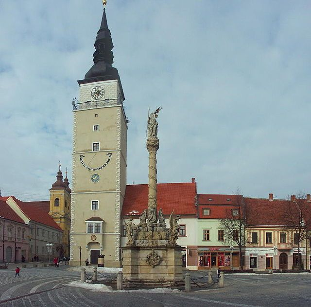 Tower in the historical center of Trnava.