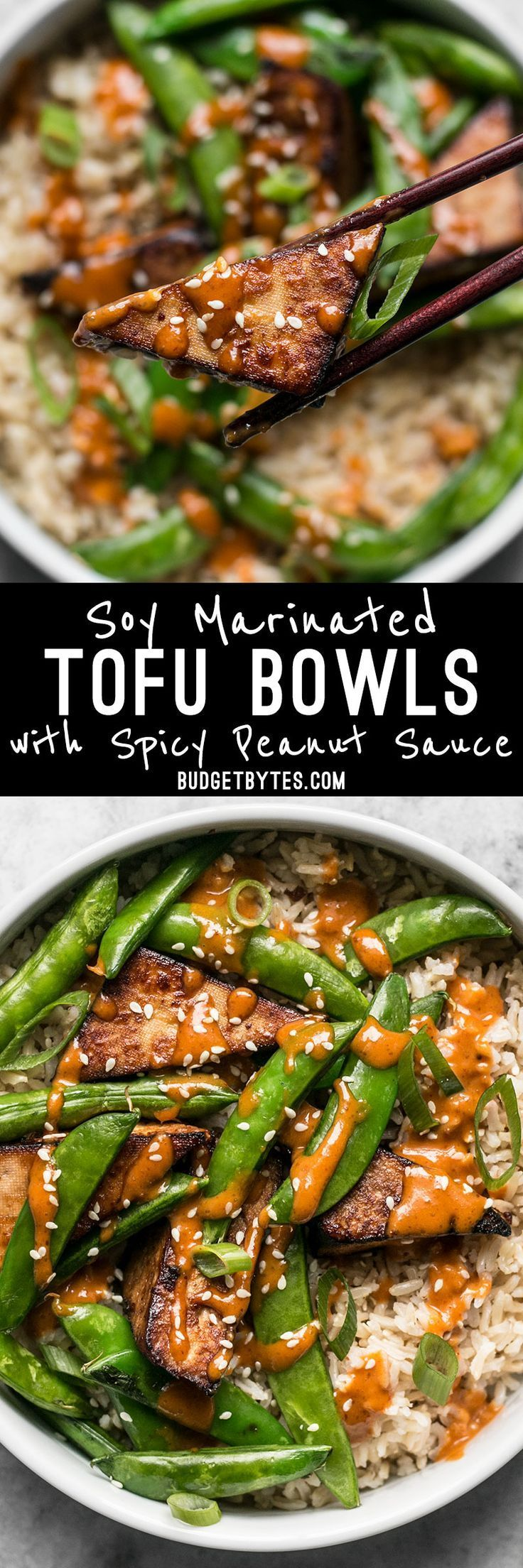 These vegan Soy Marinated Tofu Bowls are full of rich flavors and plenty of texture to keep your taste buds happy and your belly full.