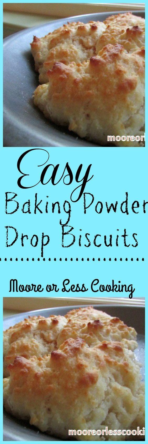 Baking Powder Drop Biscuits