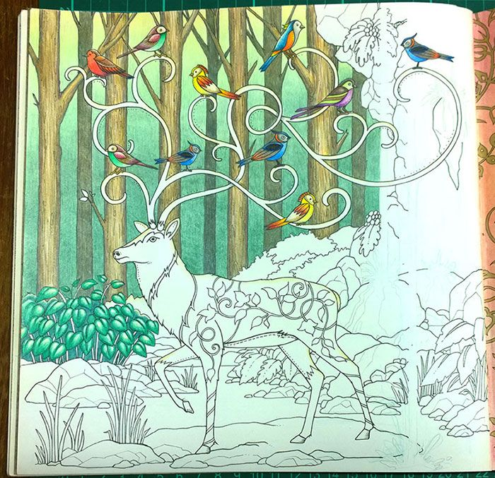 Colouring Walkthrough Creating A Background In Enchanted Forest La Artistino Peta Hewitt