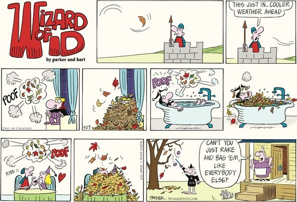 Image result for wizard of id comic strip images