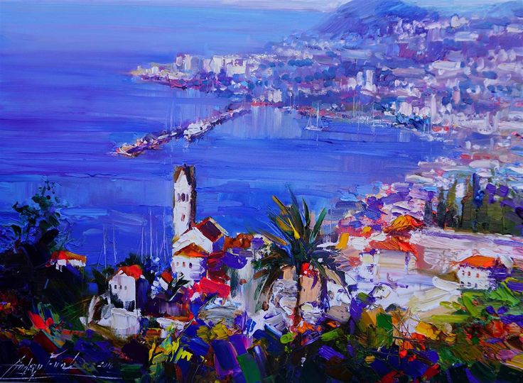 Andrey Figol - Spring Madeira Oil on Canvas, Paintings