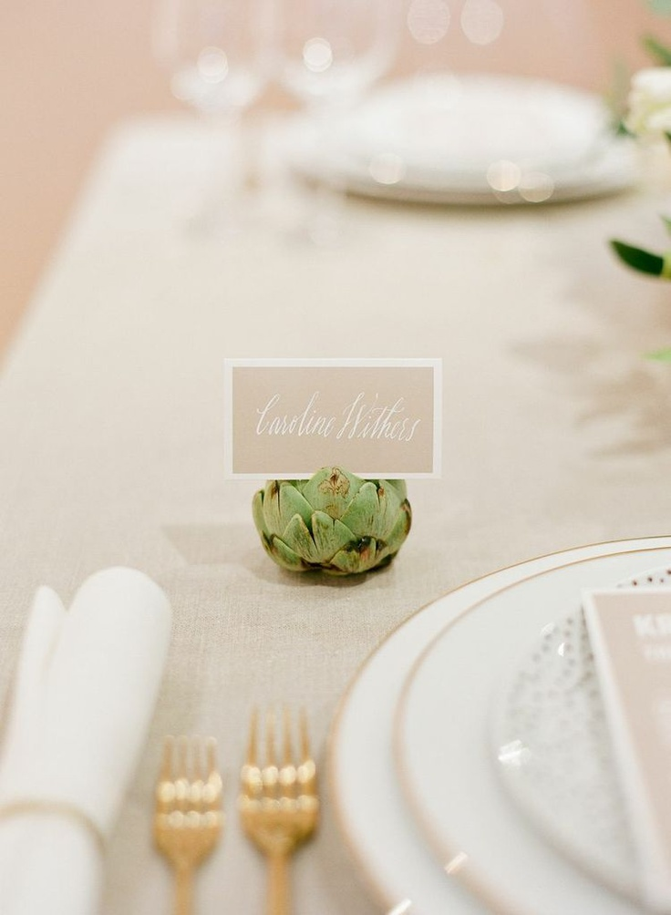 artichoke place card holders