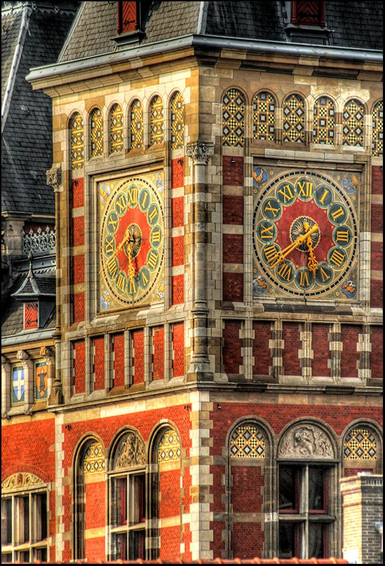 Central station, Amsterdam, the Netherlands.