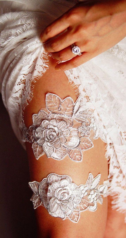 Bruids Kousenband instellen bruiloft kousenbanden door NAFEstudio