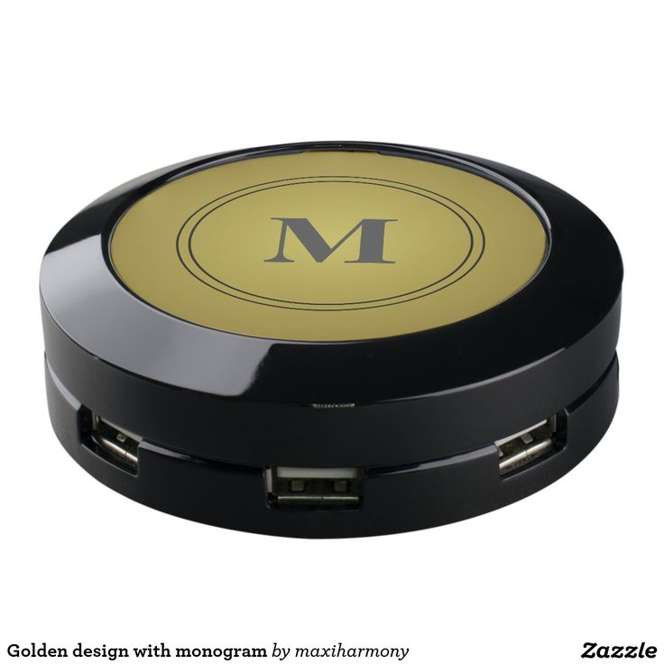 Golden design with monogram USB charging station
