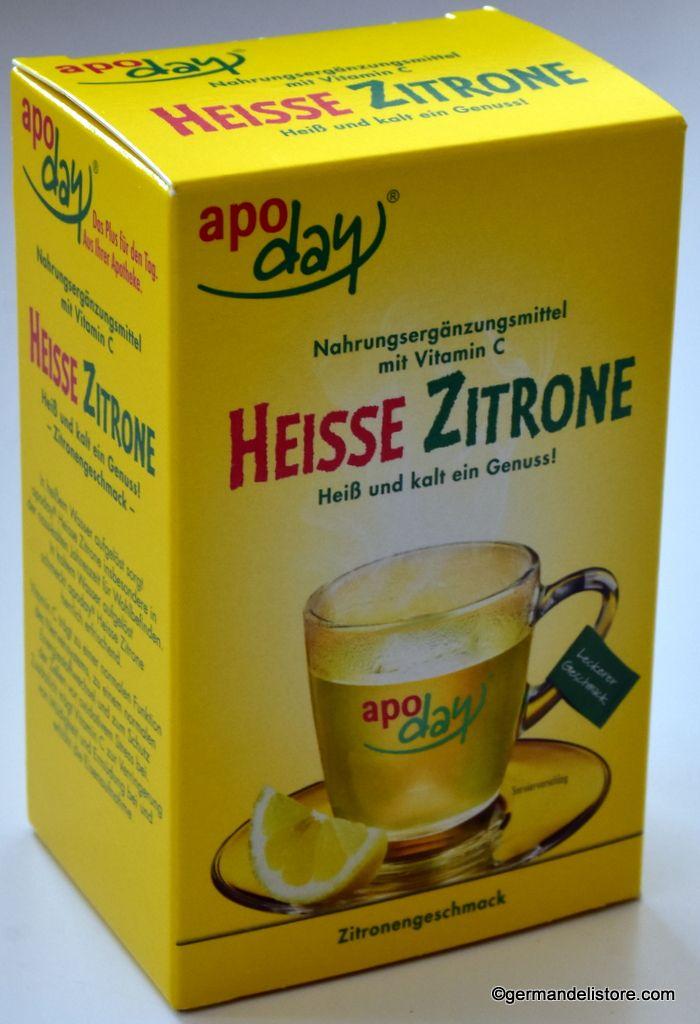 Apoday Heisse Zitrone Hot Lemon Vitamin C 10 Pack Lemon Vitamin C Vegan Nutrition Company Meals