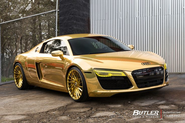 Audi R8 Or Gold Cars Cars Luxury Cars Et Exotic Cars