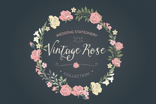 Vintage Hand Illustrated Logos & Shapes