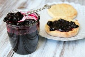 Blueberry Refrigerator Jam ---- from @RecipeGirl {recipegirl.com}