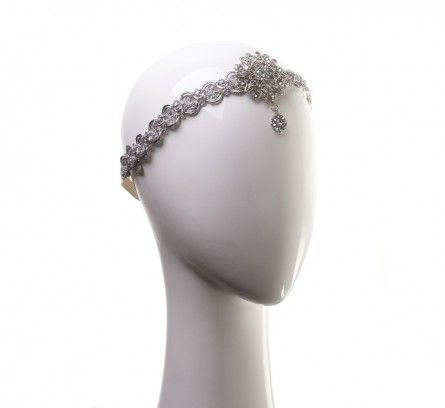 Crystal and Silver Stretch Head Chain