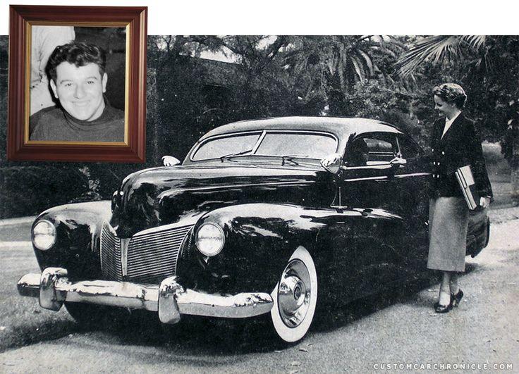 Gil Ayala at the 1951 Roadster Show Custom Car