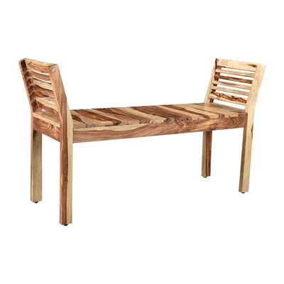 Worldwide Home Furnishings 401-354DS !nspire Asha Double Bench