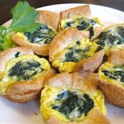 "Croissant Mini Quiche | ""An easy and yummy way to make mini quiches that can be altered to your liking."""