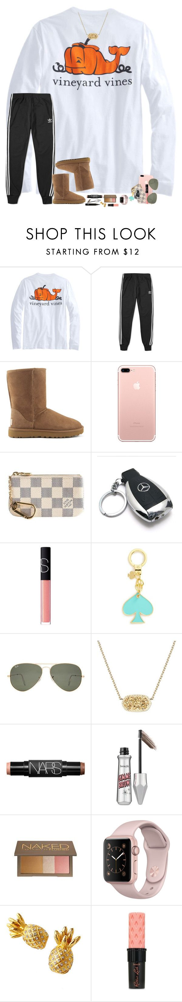 """happy Halloween!! 👻🎃"" by hopemarlee ❤ liked on Polyvore featuring adidas, UGG Australia, Louis Vuitton, Mercedes-Benz, NARS Cosmetics, Kate Spade, Ray-Ban, Kendra Scott, Benefit and Urban Decay"